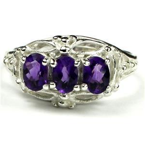 SR163, Amethyst, Sterling Silver Ring