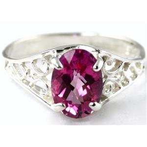 Pure Pink Topaz, 925 Sterling Silver Ring, SR005