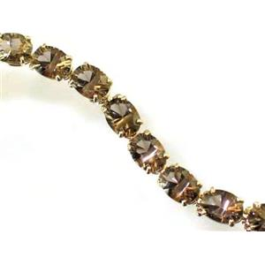 B002, Quantum Cut Smoky Quartz Gold Bracelet