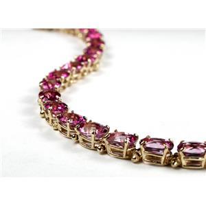 B002, Pure Pink Topaz Gold Bracelet