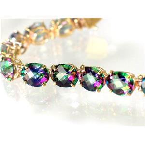 B003 Mystic Fire Topaz Gold Bracelet
