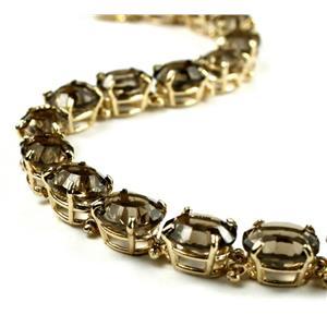 B003, Quantum Cut Smoky Quartz Gold Bracelet