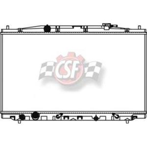 CSF 3368 Radiator - 1 Row Plastic Tank Aluminum Core for 08-12 Accord 2.4L