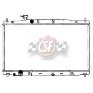 CSF 3337 Radiator - 1 Row Plastic Tank Aluminum Core For 07-09 CR-V Crv
