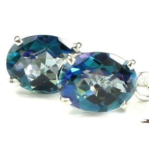 SE003, Neptune Garden Topaz, 925 Sterling Silver Threader Earrings