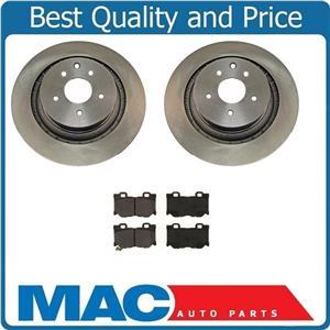 (2) 350MM 31517 44619 Disc Brake Rotor, Rear 370Z With CD1347 Ceramic Pads