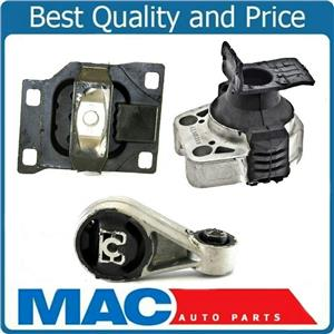 Engine Motor and Transmission Mount Kit 3pc Set for 05-07 Ford Focus 2.0L A/T