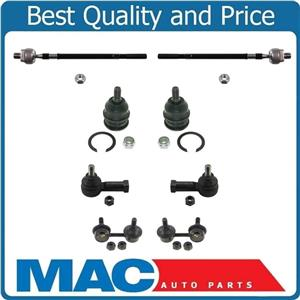 Front Lower Ball Joints Sway Bar Links and Tie Rods for Hyundai Accent 00-2005