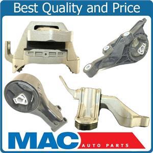 Transmission Engine Motor Mount Kit Set 4pc Fits 11-15 Chevy Cruze Automatic 1.4