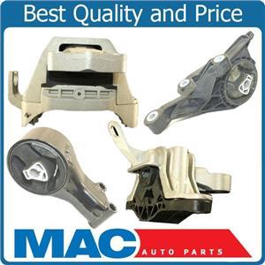 Transmission Engine Motor Mount Kit Set 4pc Fits 10-12 Chevy Cruze Automatic 1.8
