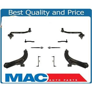 10 Pc kit Fits Versa Front Lower Control Arms, Rods Upp Links sway Bar ALL