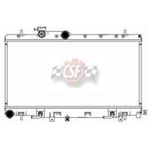 Radiator-1 Row Plastic Tank Aluminum High Performance 15/16 Thick Core CSF 3356