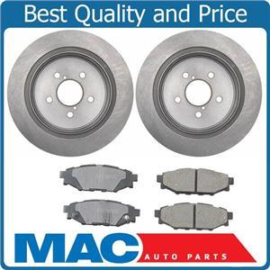 Rear Brake Rotors Ceramic Brake Pads fits For 05-09 Subaru Legacy & Outback