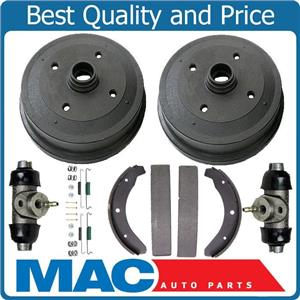 New Front Brake Drums Shoes Hard Wheel Cylinders for Volkswagen Beetle 68-78