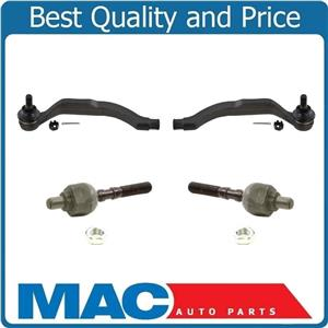 97-98 Acura 3.2TL / 96-04 Acura 3.5RL Inner & Outer Tie Rod Ends 4Pc