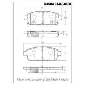Disc Brake Pad-Ceramic Brake Pads Front Dash 4 Brake CD1467 Fits ATS Encore Volt