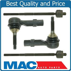 Inner & Outer Tie Rod Rods End Ends Kit For 09 Ford Flex Taurus X Mercury Sable