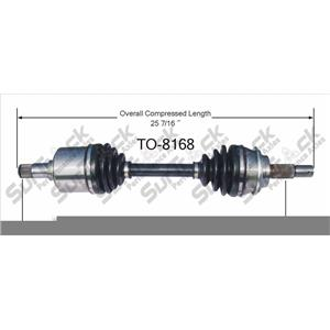 CV Axle Shaft- Front-L or R TO-8168 Fits For 07-14 FJ 05-14 Tacoma