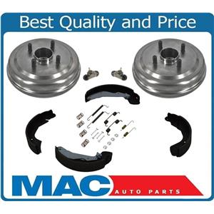 Fits For 04-06 Aveo Wave W ABS (2) Brake Drums  Hubs Bearings Shoes 122.49004 6P