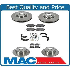 F & R Brake Rotors & Ceramic Pads  For 07-13 MDX 10-13 ZDX 09-11 Pilot 8pc