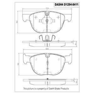 Disc Brake Pad Ceramic Pad Front Dash 4 Brake SCD1294 Fits For X5 X6