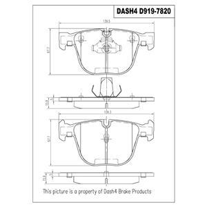 Disc Brake Pad-Ceramic Brake Pads Rear Dash 4 Brake CD919 Fits Rear BMW