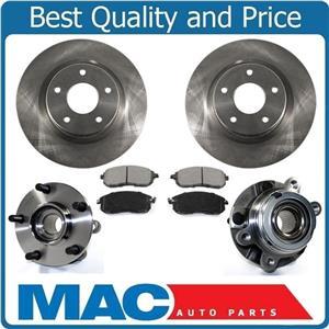 Hub Bearings With Rotors & Ceramic Pads Fits 07-12 Altima 3.5L Front 31464 CD815