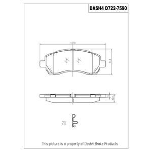 Disc Brake Pad-Ceramic Brake Pads Front Dash 4 Brake CD722