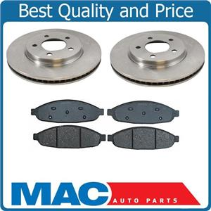 04-08 Pacifica (2) 53019 Front Disc Brake Rotor & Ceramic Front Brake Pads