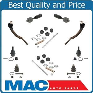 Tie Rods Ball Joints Fits For 08-09 Trailblazer Envoy 10Pc Kit