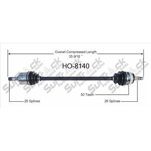 CV Axle Shaft-New Front Left HO-8140 fits 01-05 Honda Civic With Automatic