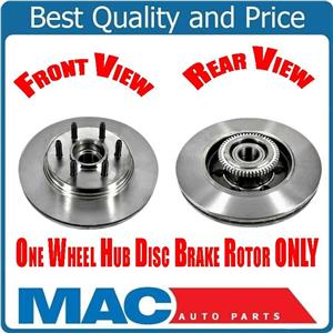 (1) Front Rotor & Hub Wheel Bearing For Ford 04-08 F150 2 Wheel Drive 6 Stud