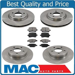 F & R Rotors & Ceramic Pads For 08-09 HHR With 4 Wheel Disc Brakes