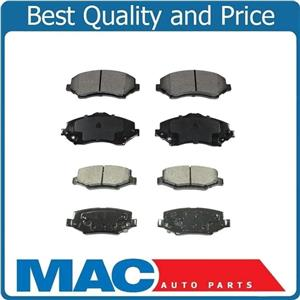 Fits 2007-2015 Jeep Wrangler Front & Rear Ceramic Pads