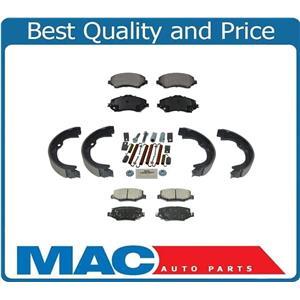Fits 2007-2014 Jeep Wrangler Frt & Rr Ceramic Pads,Parking Brake Shoes & Springs