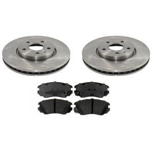 Front Brake Disc Rotors Ceramic Pads Set For Regal Allure Lacross Camaro Malibu