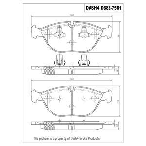 Disc Brake Pad-Semi-Metallic Pad Front Dash 4 Brake MD682 Fits 96-01 750iL