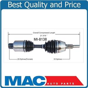 (1) 100% All New CV Axle Shaft - New, Front-Left or Right Fits 05-10 Dakota 4x4