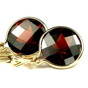 E211, Mozambique Garnet, 14k Gold Earrings