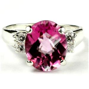 Pure Pink Topaz, 925 Sterling Silver Ring, SR123