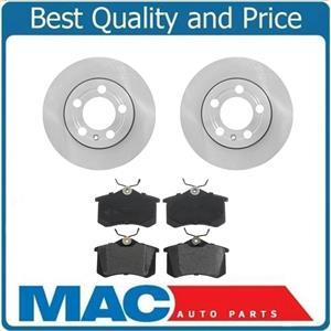 00-06 Audi TT 1.8L Quattro 232MM Only Ck Measure Rr Brake Rotors & Ceramic Pads