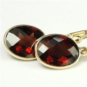 E101, Mozambique Garnet,14k Gold Earrings