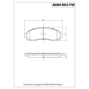 Ceramic Brake Disc Pads Front CD833 Fits 02-07 VUE 05-06 Equinox