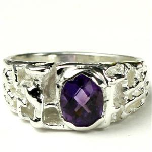 SR197,  Amethyst, 925 Sterling Silver Ring