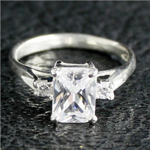 SR171, Cubic Zirconia, 925 Sterling Silver Ladies Ring