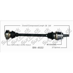 CV Axle Shaft-New Rear Right REF# BM-8022 Fits 01-06 325I 03-05 Z4