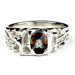 SR197, Mystic Fire Topaz, 925 Sterling Silver Ring