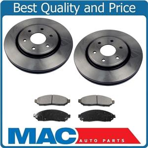 Front Rotors and Brake Pads for Nissan Frontier Xterra Pathfinder 4.0L 4x4 05-15