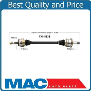 D/S Rear Axle Fits 300 Magnum 6.1L SRT8 30 Spline In 27 Spline Out Magnetic Ring