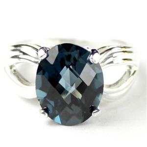 SR361, London Blue Topaz, 925 Sterling Silver Ring